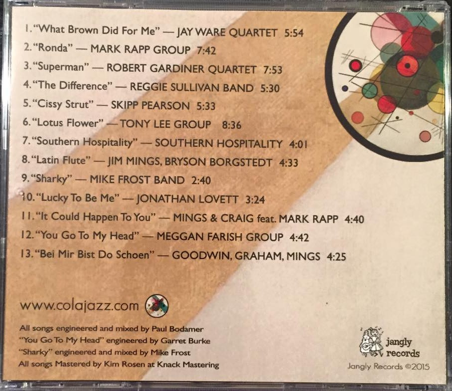 ColaJazz vol1 CD back