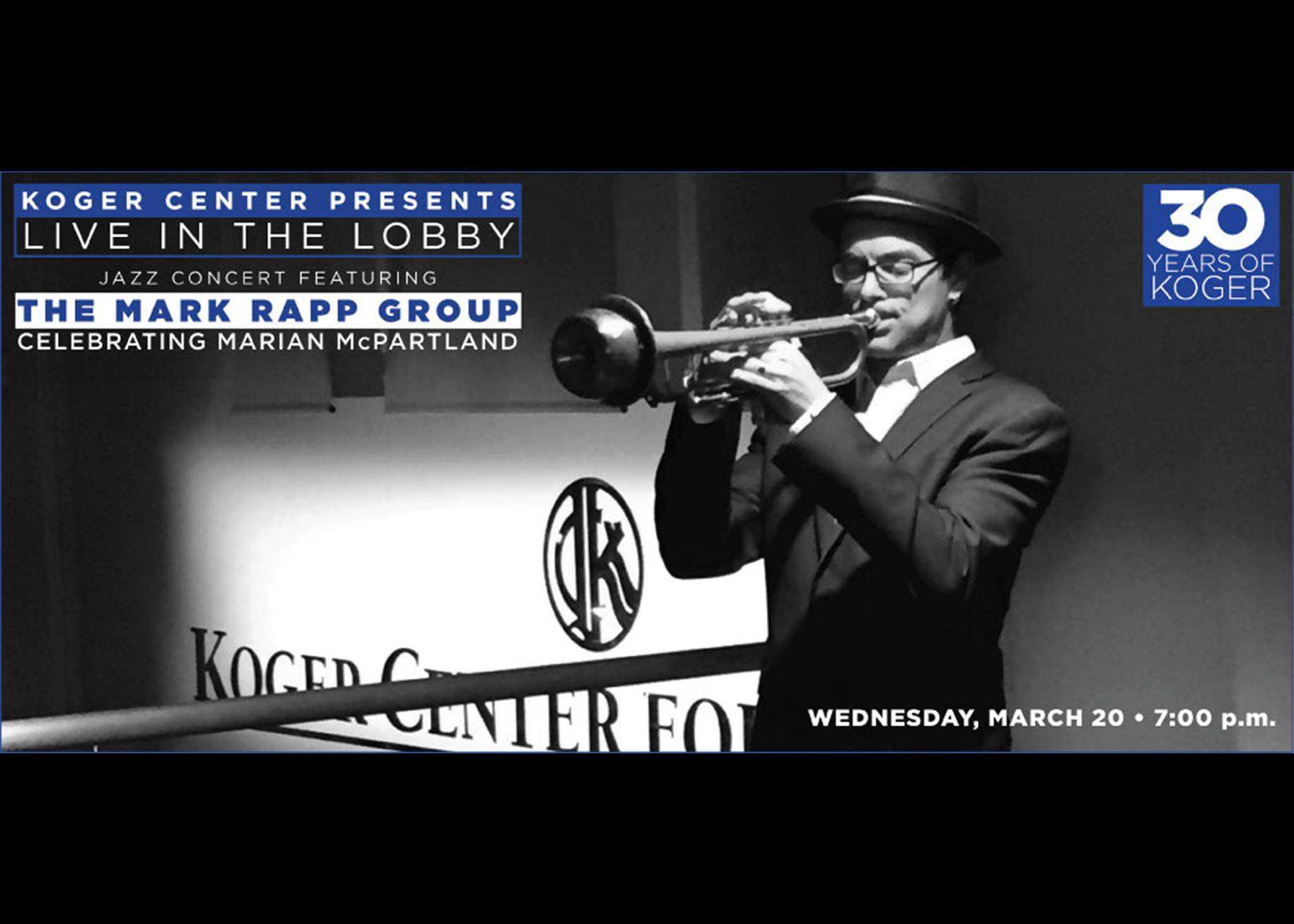 Koger Center Jazz Mark Rapp