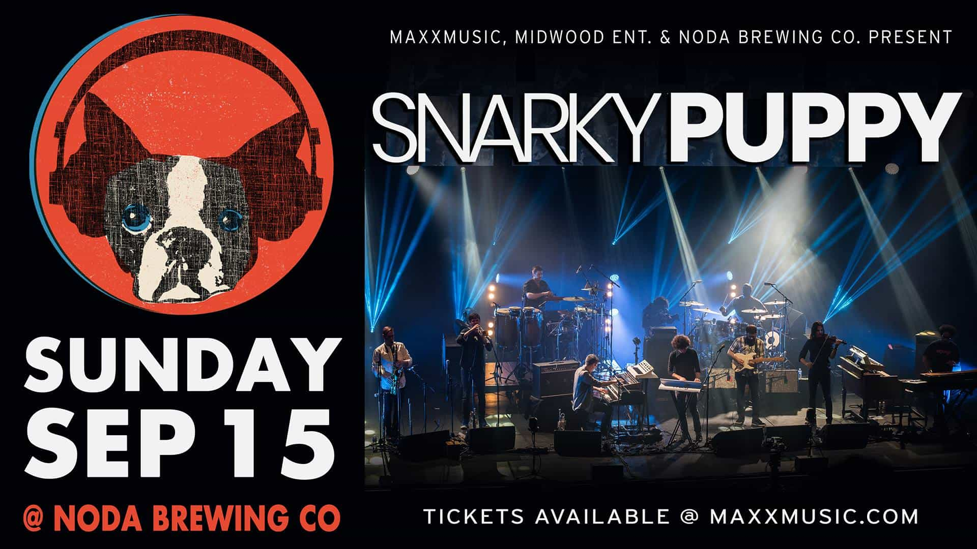 Snarky Puppy with Breastfist at NoDa Brewing Company