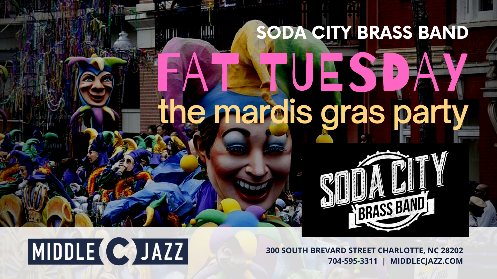 Fat Tuesday Soda City Brass Band